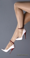 High Heels Exclusive | White patent pumps with round toe from elite-heels.com