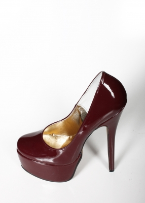 Burgundy High Heels